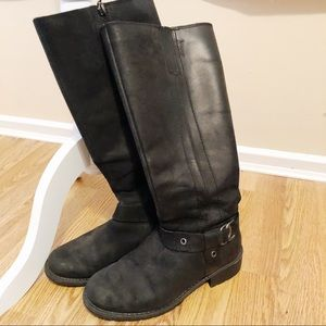 Clarks Black Matte Oiled Leather Riding Boots (7)